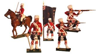 Toy Soldiers 54mm Painted in Gloss The Indian Mutiny of 1857