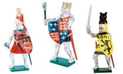 Medieval Foot Knights Toy Soldiers 54mm
