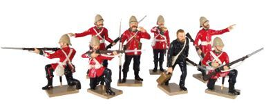 Toy Soldiers 54mm Painted in Gloss Anglo-Zulu War 1879