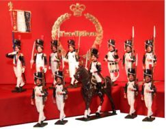 Toy Soldiers 54mm Painted in Gloss Napoleonic French Troops