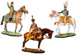 80mm Mounted Model Soldier Figures