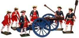 Toy Soldiers 54mm Painted in Gloss Seven Years war French