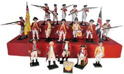 Toy Soldiers 54mm Painted in Gloss AWI British 1776-1783