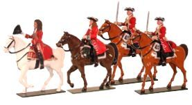 Toy Soldiers 54mm Painted in Gloss Marlborough Battle of Blenheim