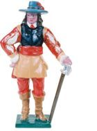 English Civil War 1642-1651 Toy Soldier Kit, Unpainted