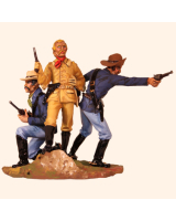 VG90 05 Custers Last Stand General Custer and two troopers of the Seventh Cavalry Painted