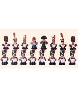 Chess set The French armie 16 busts Kit