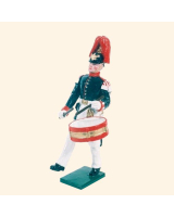 057 3 Toy Soldier Drummer Marching Kit