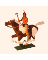 1205-1 Toy Soldier Mounted Indian with axe in action Kit
