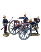 "20086 British Royal Artillery 7 Pound Gun and Crew No.1, ""Priming the Piece"" - WBritain William Britain"