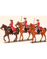 302 Toy Soldiers Set Marlborough Officer and Troopers Painted