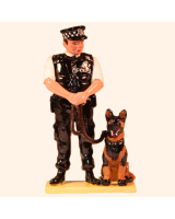 569 Toy Soldier Set Police Dog Handler Painted