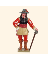 067-2 Toy Soldier Set Cavalry Officer of the Royalist Foot Kit