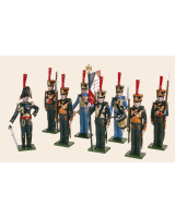 720 Toy Soldiers Set French Marines Painted