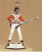 No.027 - Private Royal Marines 1805 Kit/ Unpainted