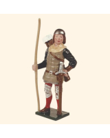 MS2-4 Toy Soldier Set English Archer wearing a skull cap The Battle of Agincourt Kit