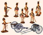 ToL 053 - The Royal Horse Artillery The British Army Hinchliffe models - Napoleonic War - Size 54mm Painted