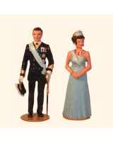 1000 Toy Soldier Set His Majesty Carl XVI Gustaf, King of Sweden and Her Majesty The Queen Painted