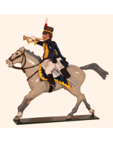 760 3 Toy Soldier Trumpeter 7th Queens Own Hussars Kit