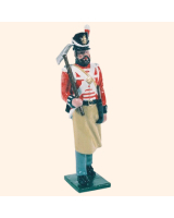 B1 08 Toy Soldier Pioneer with mattlock Marching British Line Infantry Kit