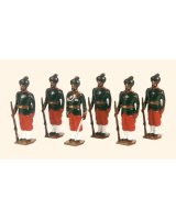 032 Toy Soldiers Set 29th Bombay Infantry 2nd Baluchis 1890 Painted