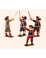 352 Toy Soldiers Set The Three Musketeers and d'Artagnan Painted