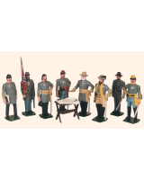 041 Toy Soldiers Set Robert E. Lee and his Generals Painted