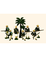 042 Toy Soldiers Set Royal Navy Landing Party Egypt 1882 Painted
