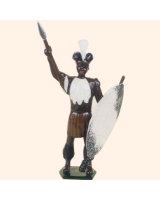 502 Toy Soldier Set Zulu Warrior Painted Painted