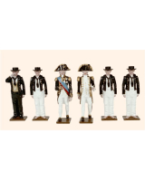 074 Toy Soldiers Set Admiral Lord Nelson with Crew 1805 Painted