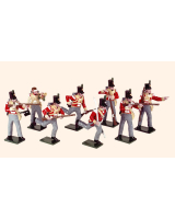 743 Toy Soldiers Set British Light Infantry 1812 Painted