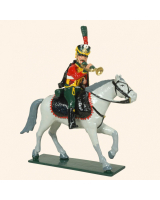 756C Toy Soldiers Set Trumpeter French Hussars Painted