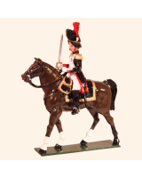 771 Toy Soldiers Set Mounted Officer French Grenadiers of the Guard  Painted