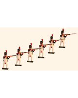 774 Toy Soldiers Set French Grenadiers of the Guard Standing Firing Painted