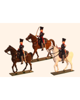 778 Toy Soldier Set Landwehr Cavalry Prussian Napoleonic War Painted