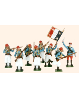 807 Toy Soldiers Set French Tirailleur Algerian Turcos 1914 Painted
