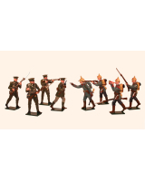 818 Toy Soldiers Set Outbreak of World War I - August 1914 Painted