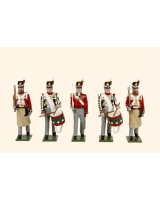B1B Toy Soldiers Set British Line Infantry Marching Painted
