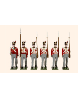 B1C Toy Soldiers Set British Line Infantry Marching Painted