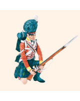 T54 182 Private Kneeling at the ready Highland Infantry 1815 Kit