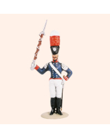 T54 324 Drum Major The Band of the Prussian 1st Foot Guards Painted