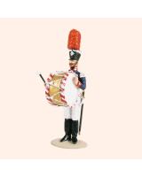 T54 327 Bandsman Bass Drum The Band of the Prussian 1st Foot Guards Painted