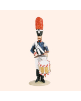 T54 328 Bandsman Side Drum The Band of the Prussian 1st Foot Guards Painted