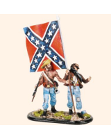 T54 389 Infantry Standard Bearer and Private Painted