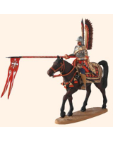 ToL90 06 Polish Winged Hussar 1675 17th Century Suit of Armour with Helmet and wings Painted