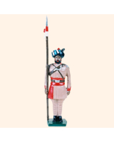 044 3 Toy Soldier Lancer at attention Kit