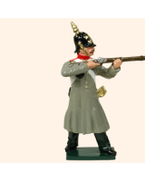 104 4 Toy Soldier Private spike helmet firing Russian Infantry Kit