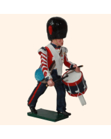111 2 Toy Soldier Drummer Marching Coldstream Guards Kit