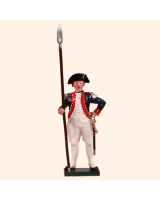 250 1 Toy Soldier Officer holding spontoon Kit