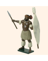 402 1 Toy Soldier Zulu Chief Kit
